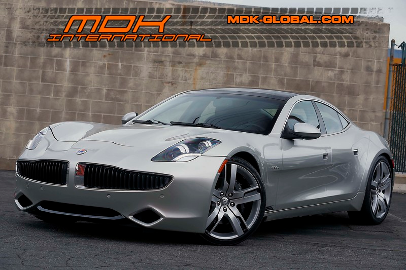 2012 Fisker Karma in Silver Mirage Diamond Dust over Mojave Tri-Tone