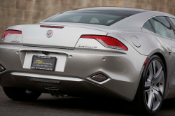 2012 Fisker Karma Signature in Silver Mirage Diamond Dust over Mojave Tri-Tone