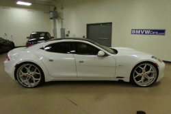2012 Fisker Karma EcoSport in White Sand over Canyon Tri-Tone