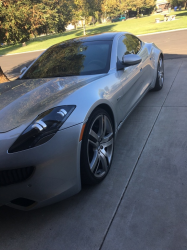 2012 Fisker Karma EcoSport in Silver Wind over Canyon Tri-Tone